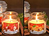 CHRISTMAS SPICES - Früchte mit Zimt, Duftkerzen im Glas mit Deckel, Brenndauer: 30h, in verschiedenen Duftvarianten
