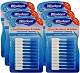 6x Wisdom Clean Between Interdental Brushes - Pack of 20 - Size Fine Blue