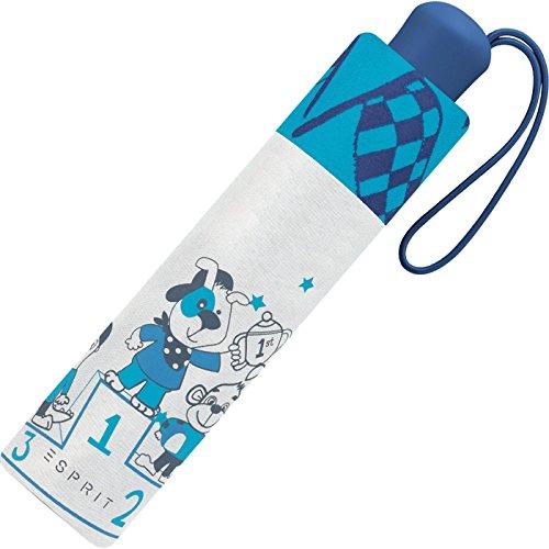 Esprit Mini little racer Blau-Grau 50820 Kinder Regenschirm Taschenschirm Schirm Schime