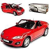 Paudi Defektes Modell Fehlender Auspuff Mazda MX-5 NC Cabrio Rot 3. Generation 2005-2015 1/18 Modell Auto
