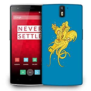 Snoogg Yellow Octupus Designer Protective Back Case Cover For ONEPLUS ONE