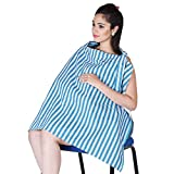 #4: Lula Mom Mother's Blue color Stripes Nursing/Feeding Cover