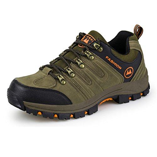 ailishabroy Männer Wanderschuhe Herren Wasserdichte Leichtbau Klettern Schuhe (44 EU, Khaki) High-tops-tennis-schuhe Für Frauen