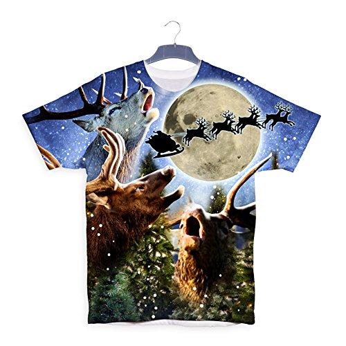 3 Deer Rudolph Santa Christmas Xmas Gift T (Wenig Weihnachtsbaum Kostüme)