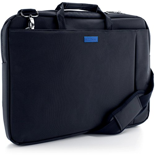 """deleyCON Notebook-Tasche bis 17,3"""" Zoll (43,2cm) Laptop Notebook Netbook Macbook Tragetasche Schultertasche Schutztasche Polyester Blau"""