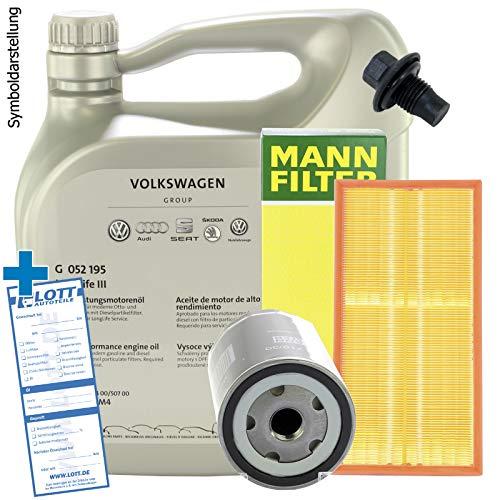 Inspektion Sevice-Set VAG 5W-30 Motoröl + Ölfilter + Luftfilter + Ablassschraube