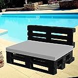 Cuscino per Bancale - Cuscino per Seduta Divano Pallet di legno - in morbido tessuto - 80x120 40x120 (GRIGIO, 80X120X8 SEDUTA)
