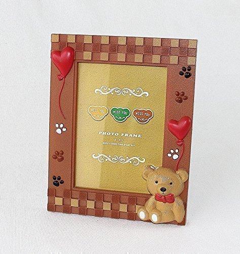 Preisvergleich Produktbild Bilderrahmen Baby und Kinderfotos mit Bär Motive (Rahmen NR930)