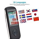 Eboxer Traducteur WiFi Intelligent Traducteur Vocal Multi-Langues en Temps Réel Portable 2,4 Pouces Ecran Tactile Traduction Support 35 Langues avec Haut-Parleur HiFi Intégré pour Android 6.0(Noir)
