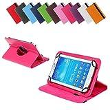 BRALEXX Universal 360° Tablet Tasche passend für Blaupunkt Polaris 808, 7 Zoll, Pink