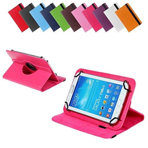 BRALEXX Universal 360° Tablet Tasche passend für Allview Wi7 Android, 7 Zoll, Pink