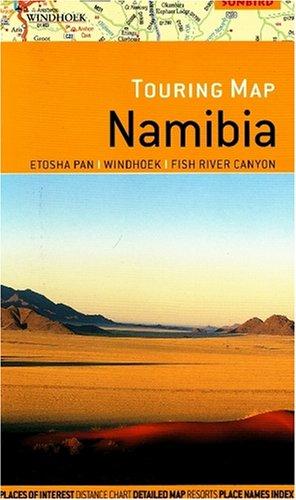Touring Map Namibia: Etosha, Windhoek, Fish River,