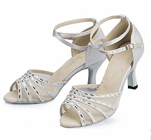 In Raso Nero Donna Scarpe A Punta Di Diamante con Cinturino alla Caviglia Misura 7 NUOVO