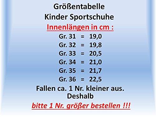 Gibra ® enfant avec lederfußbett gris/jaune fluo taille 31–36 Gris - grau/neongrün