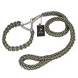 Pet Online Medium Große Hund Hund Hund Hund halsband Golden Labrador seil-kette P Kette Zugseil Produkte, Army green, Tuba