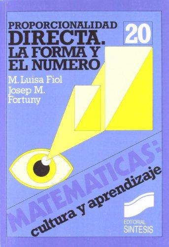 Proporcionalidad geométrica y semejanza (Matemáticas, cultura y aprendizaje) por José María Fortuny Anmeny