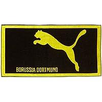 Puma Handtuch BVB Towel - Toalla, color negro (black-cyber yellow), talla one size