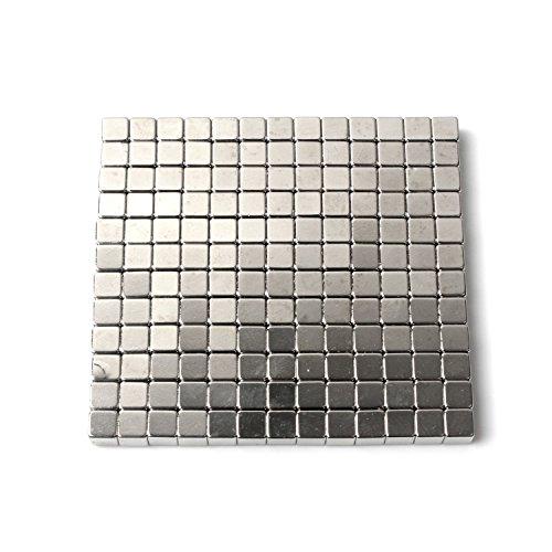 Eine Reihe Von (216pcs) Rostfreiem Stahl Metall WüRfel für DIY Skulptur Freien SchöPfung Und Kombination (3mm) (Dekorative Magnet-board)