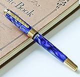 Jinhao Luxe Stylo Plume 250 Metal Medium NIB Smooth Writing Calligraphie Stylo Encre (Royal Blue)
