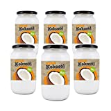 Bio4Fit Bio Kokosöl, nativ, (6 x 1000 ml) Glas