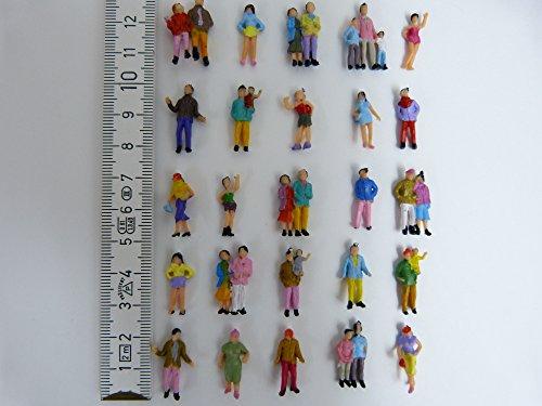 100 Figuren Reisende zu H0 1:87 Paare Familien Kinder