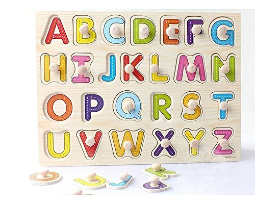Baybee Premium Wooden Puzzles -Upper,CaseSmall Alphabet Letters,0 to 20 Puzzle, Geometric Shape Sorter,Wooden Magnetic Writing Board,Classroom Puzzle,Tangram Puzzle (Capital Letters)