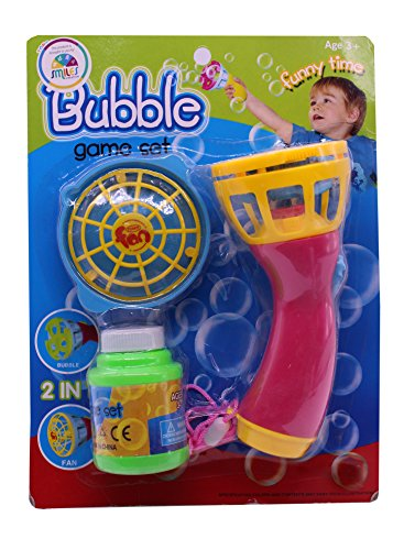 Smiles Creation Funny time Bubble Spray Gun game set Toy for kids  available at amazon for Rs.219