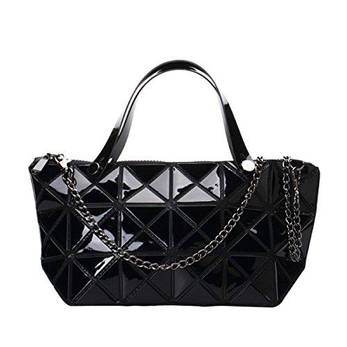 Damenmode Geometrische Schultertasche Handtasche Black