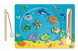 Pescado de Madera Puzzle Puzzle ÁNGEL Juego IMÁN Juego Juguetes de Madera Kinderland