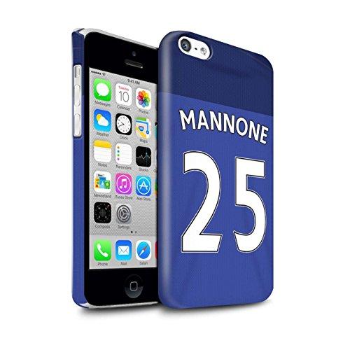 Offiziell Sunderland AFC Hülle / Glanz Snap-On Case für Apple iPhone 5C / Pack 24pcs Muster / SAFC Trikot Home 15/16 Kollektion Mannone