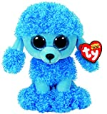 TY 37263 Mandy, Pudel blau 24cm, mit Glitzeraugen, Glubschi's, Beanie Boo's