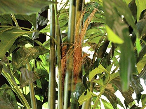 artplants – XL Deko Fishtail Palmbaum mit 1426 Blättern, 305 cm – Künstlicher Baum Groß/Kunst Palmen Pflanze