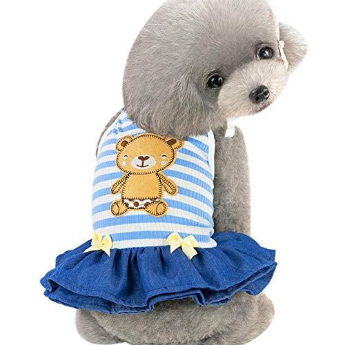 Tangpan Hunde-Kostüm Bär mit Streifen, L, blau (Bären Kostüm Für Große Hunde)
