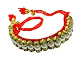 Red Cotton Dori Lumba Rakhi For Bhabhi /...