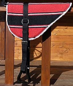 Thor Equine Tapis pour monte à cru avec étriers Rouge/noir