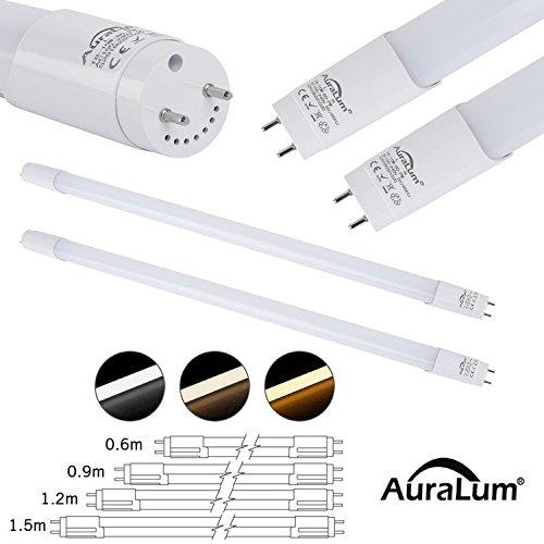 2 piezas DM T8 G13 60cm Tubo LED lámpara fluorescente 9W blanco fresco (6000-6500K), ambientalmente tubos LED con RoHs, CE, GS TUV certificado