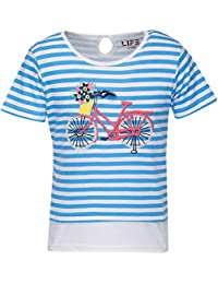 Life by Shoppers Stop Girls Round Neck Stripe Top