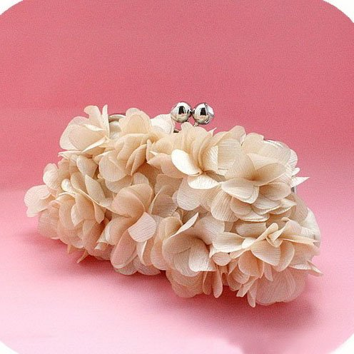 Höter Blume Damen Perlenbestickte Clutch, Abendtasche Handtasche Für Party, Hochzeit Aprikose