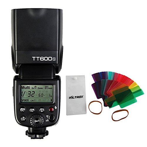 Godox TT600S - Flash Speedlite inalámbrico de alta velocidad 1/8000s 2.4G con filtro de 20 piezas difusor para cámara Sony MIHot Shoe A7 II A7R II A58 A99 A6000