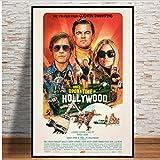 yhnjikl C'era Una Volta a Hollywood Movie TV Stampe per Poster Stampa Artistica Seta Stampa su Tela Immagine per pareti per la Decorazione Domestica della Stanza 40X60Cm Senza Cornice