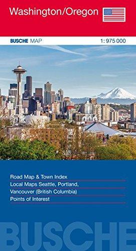 USA Washington/Oregon: Busche Map Straßenkarte, 1:975 000 (Busche Map Straßenkarten)