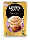 NESCAFÉ Gold TYP MOCHA, löslicher Bohnenkaffee mit cremiger Milch & sanfter Kakaonote, schokoladiger Kaffeegenuss, 1er Pack (à 8 x 18 g Sticks)