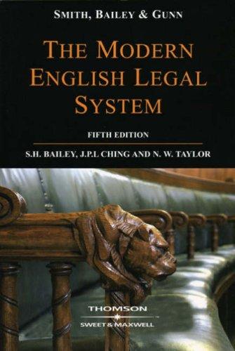 Smith, Bailey & Gunn on The Modern English Legal System