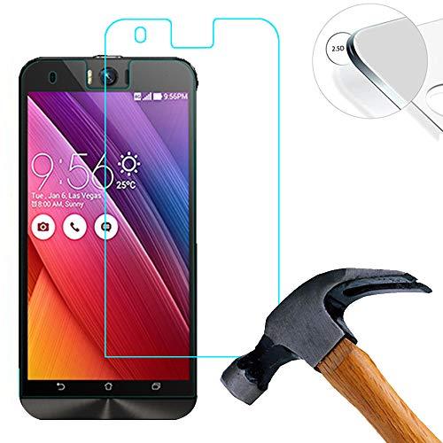 Lusee® Tempered Glass Hartglas Schutzfolie für ASUS ZenFone Selfie ZD551KL 5.5 Zoll Premium Screen Folie Protector Ultra Hart Bildschirmschutz 0,3mm Clear 2.5D