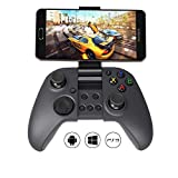 #8: MYGT C04 Wireless Bluetooth Gamepad Controller for PC, PS3, and Android Devices with in-Built Mobile Holder and Rechargeable Battery (Black)