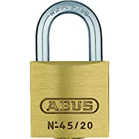 ABUS Messing-Vorhangschloss 45/20 Triples Set-3-Stück gleichschließend mit 4 Schlüsseln, 11820