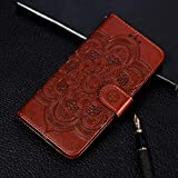 Mobile Phone Leather Cases Mandala Embossing Pattern