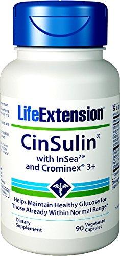 Life Extension, CinSulin mit InSea2 und Crominex 3, 90 Veg. Kapseln