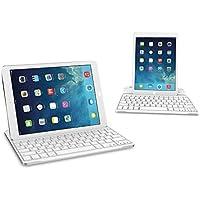 Clavier étui iPad, TeckNet Ultrathin Clavier Sans fil Bluetooth AZERTY magnétique pour Apple iPad 4/3/2, avec la fente multi-angle flexible