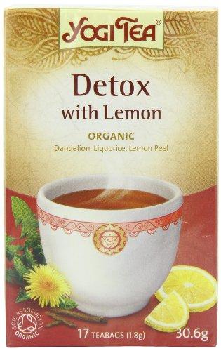 Yogi tea Infusion Bio Detox au Citron 31 g - Pack de 6